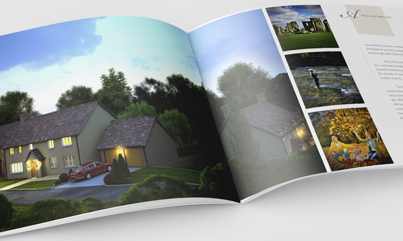 property development sales package brochure inner