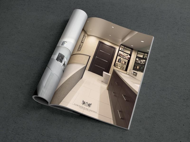 elegant brochure design townhouse interior